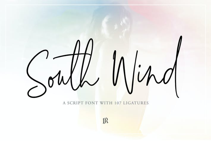 Thumbnail for South Wind Font