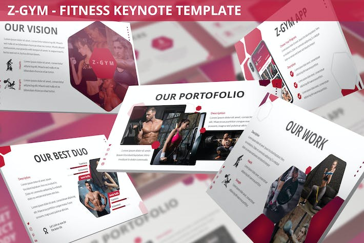 Thumbnail for Z-Gym - Fitness Keynote Template