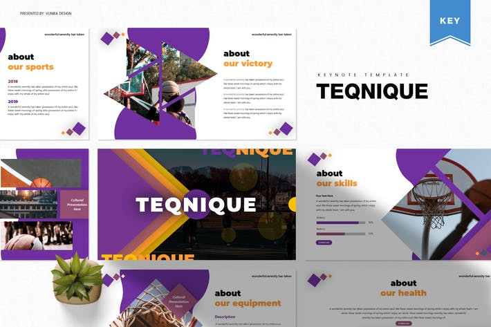 Thumbnail for Teqnique | Keynote Template