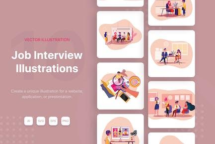 Job Interview Illustrations