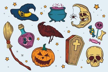 Halloween Set Ilustration