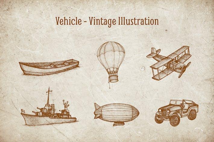 Thumbnail for Vintage Illustration - Vehicle V.4