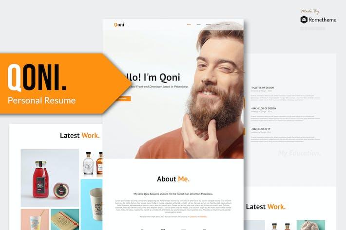 Thumbnail for Qoni - Personal/Portfolio PSD template YR