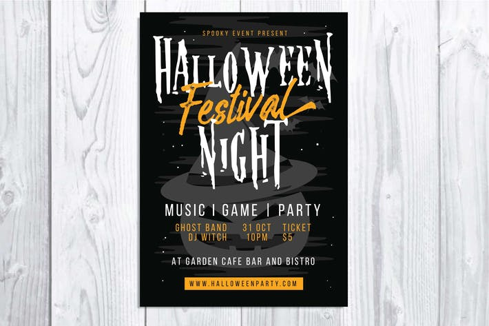 Thumbnail for Halloween Festival Night Flyer