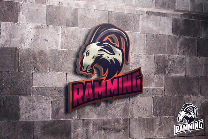 Thumbnail for Ram Goat Mascot Esports Logo