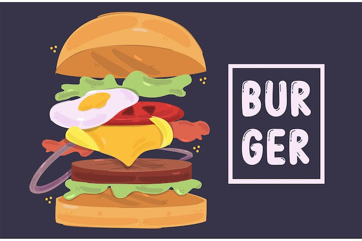Delicious Burger Illustration