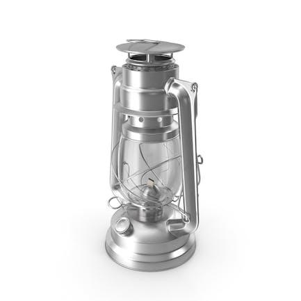 Petroleum-Lampe aus Edelstahl