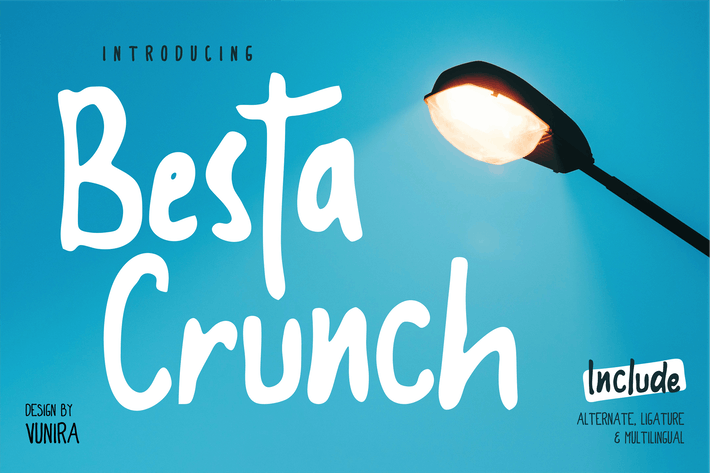 Thumbnail for Besta Crunch | Police décorative