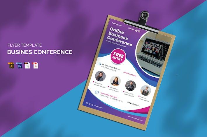 Online Business Conference - Flyer