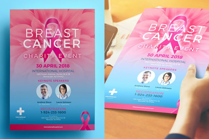 Thumbnail for Breast Cancer Charity Flyer 02