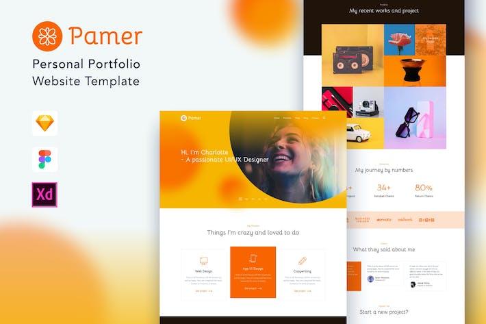 Thumbnail for Pmer - Plantilla para el sitio web Porfolio personal