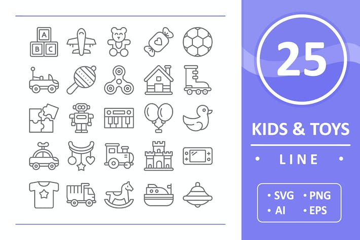 Thumbnail for 25 Kids and Toys - Line