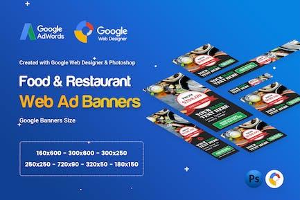Food & Restaurant Banner Ad - GWD & PSD