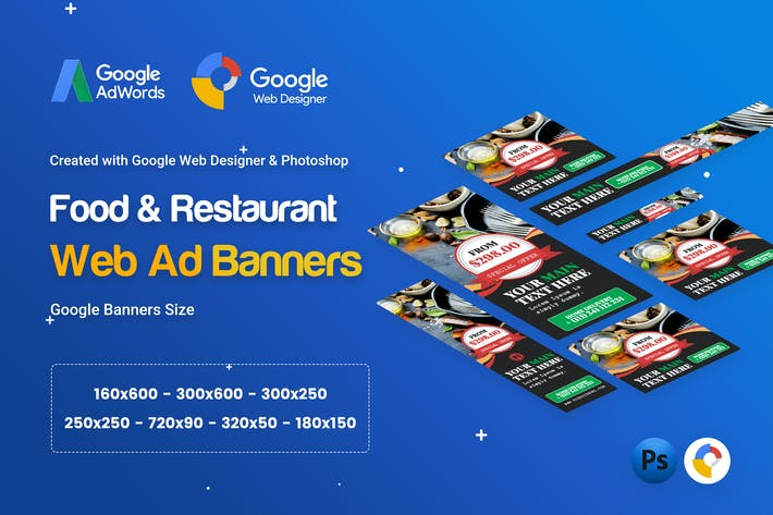 Thumbnail for Food & Restaurant Banner Ad - GWD & PSD