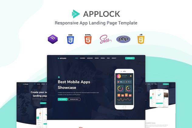 Applock - Responsive App Landing Page Template