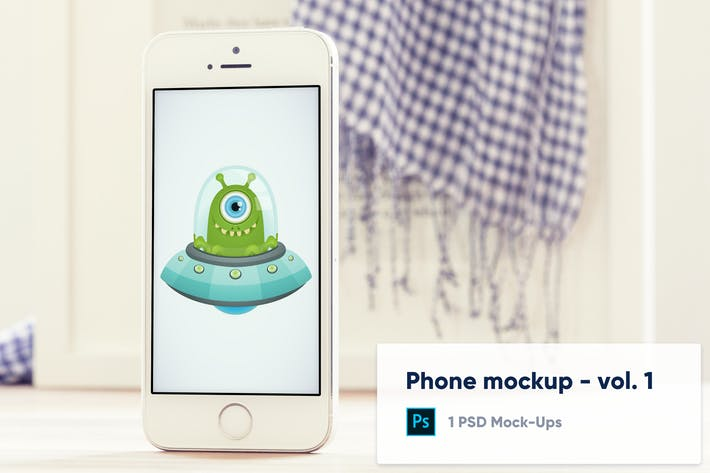 Thumbnail for Phone Mockup with blurred background - Vol.1