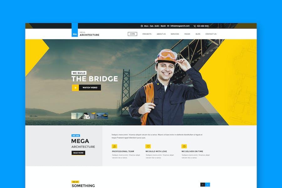 Mega Architecture: Construction, Building Template