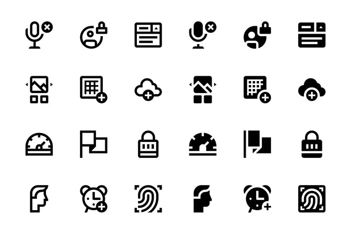 Thumbnail for 118 Basic UI Icons, vol.2