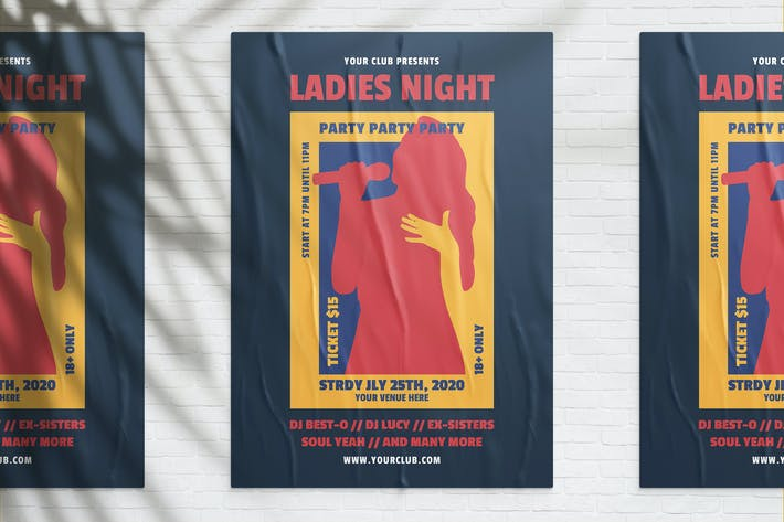Thumbnail for Ladies Night Party Flyer