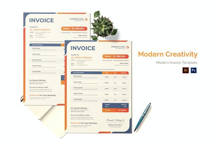 Thumbnail for Modern Creativity Invoice