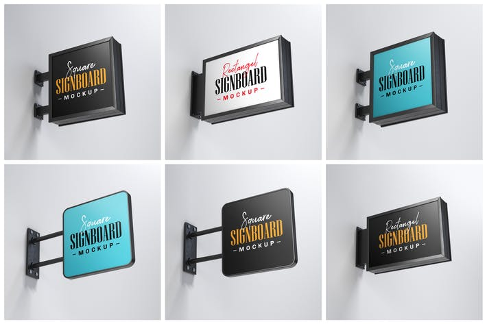 Thumbnail for Street Signboard Mockup Set