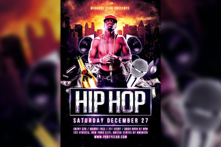 underground hip hop rap flyer template by hyperpix on envato elements