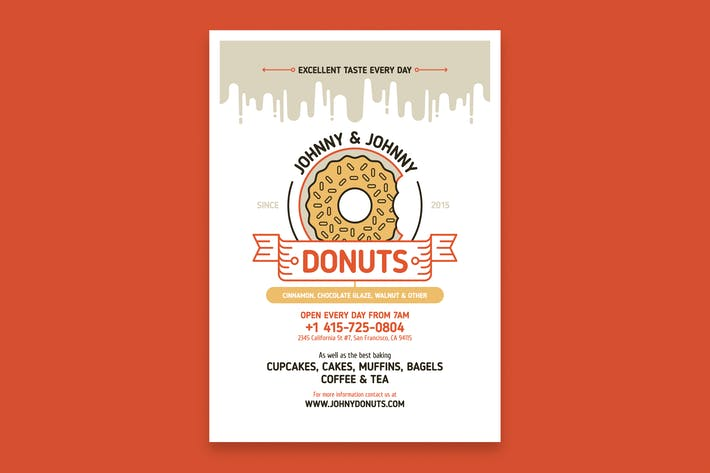 Cover Image For Donuts Poster Template