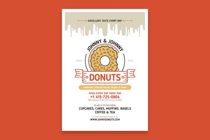 Thumbnail for Modèle d'affiche Donuts