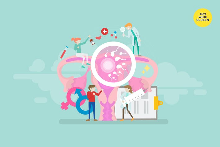 Thumbnail for Fertility Center Solution Vector Illustration Conc