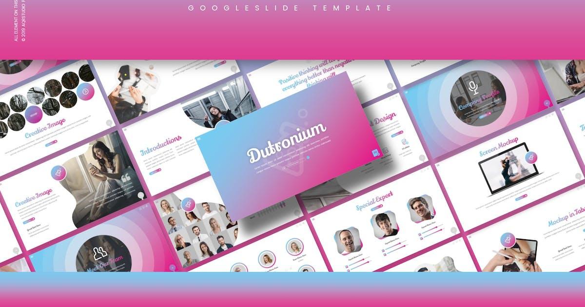 Download Dutronium - Google Slide Template by aqrstudio