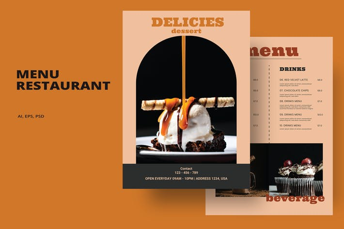 Delicies - Menu Restaurant