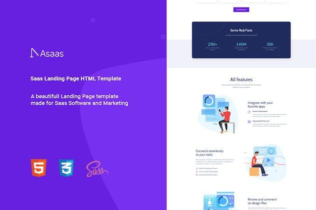 Asaas - Saas Landing Page HTML Template