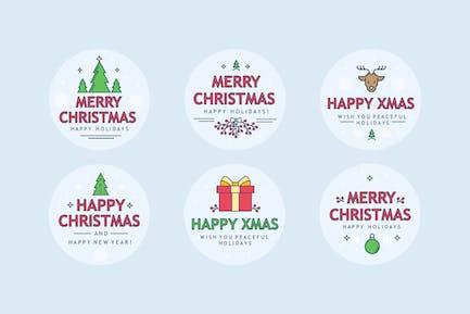 Christmas Sharp Badges