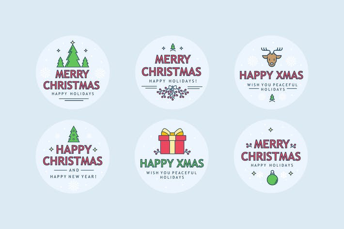 Thumbnail for Christmas Sharp Badges