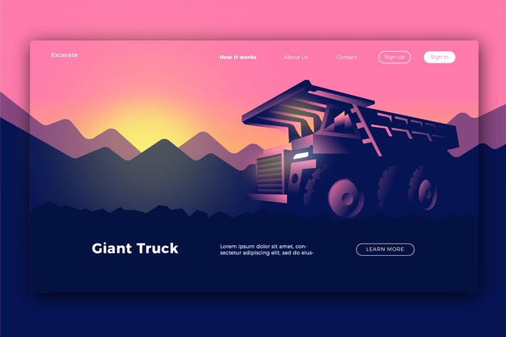 Thumbnail for Giant Truck - Banner & Landing Page