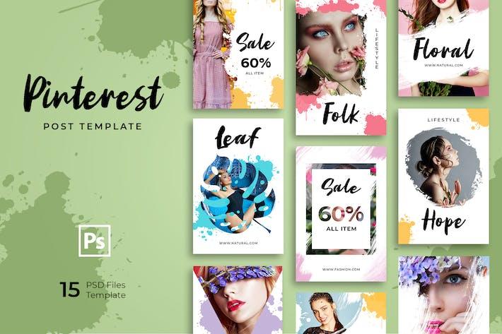 Thumbnail for Brushes Fashion Pinterest Templates