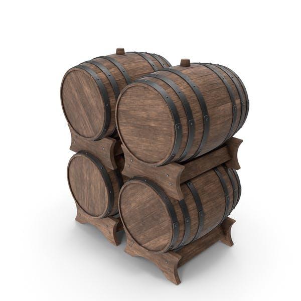 Набор деревянных бочек Орех