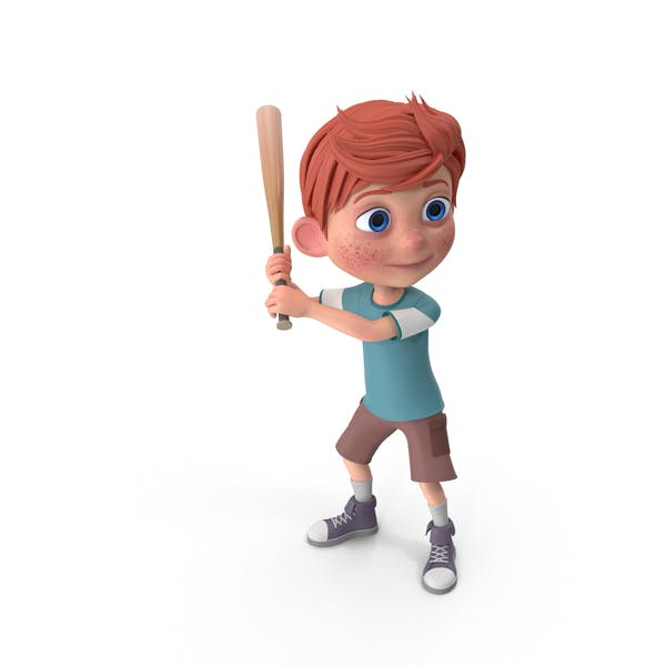Thumbnail for Cartoon Boy Charlie Baseball