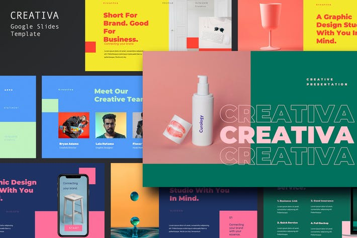 Cover Image For Creativa - Modern Style Google Slides Template