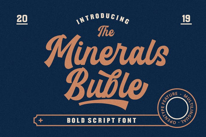 Thumbnail for Minerals Buble Bold Script Font