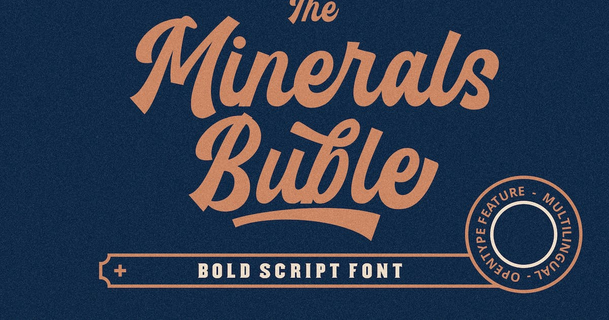 Download Minerals Buble Bold Script Font by ovozdigital