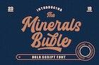 Minerals Buble Bold Script Font