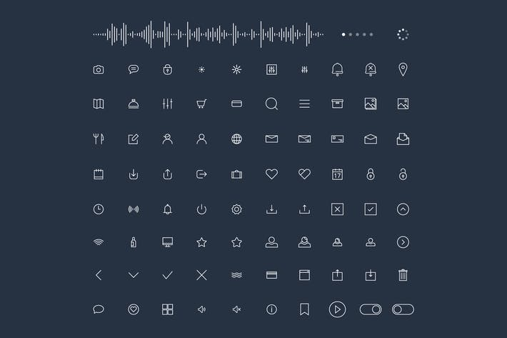 Thumbnail for Trendy Thin Line Icons for web and mobile Set