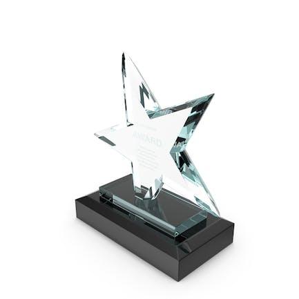 Star Glass Award Trophy