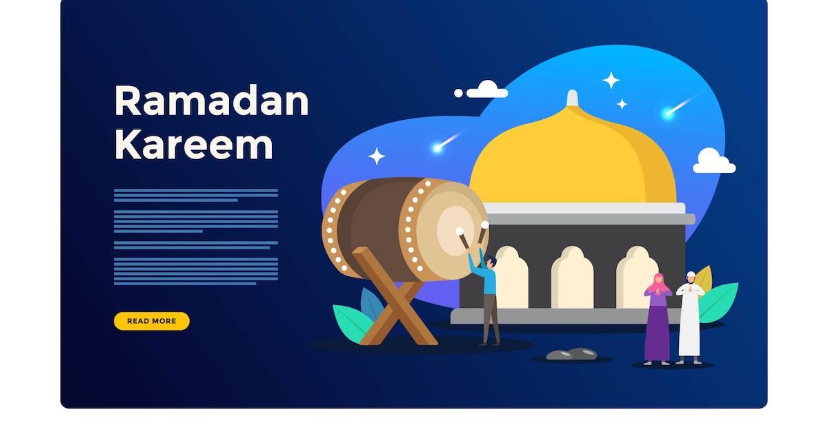 Download Ramadan Kareem Illustration by Cotbada-studio