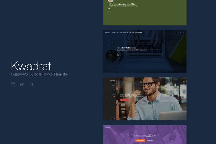 Thumbnail for Kwadrat - Creative Multipurpose HTML5 Template
