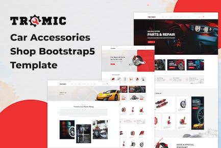Tromic - Car Accessories Shop Bootstrap 5 Template