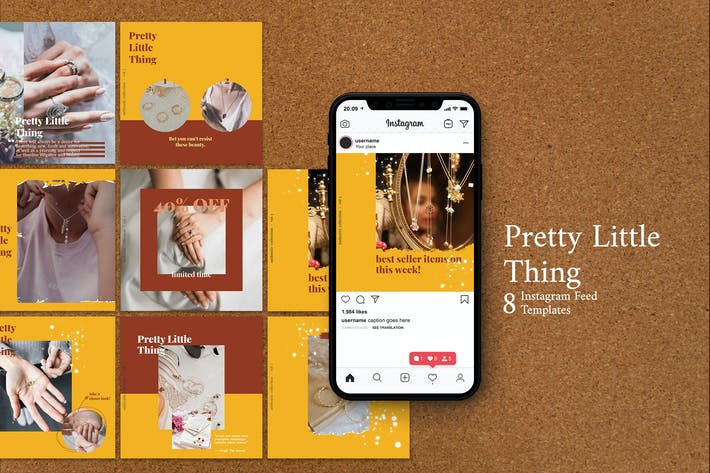 Thumbnail for Pretty Little Thing  - Instagram Post Template