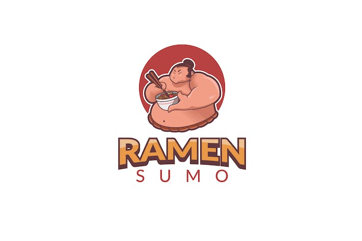 Thumbnail for Ramen Sumo Logo Template
