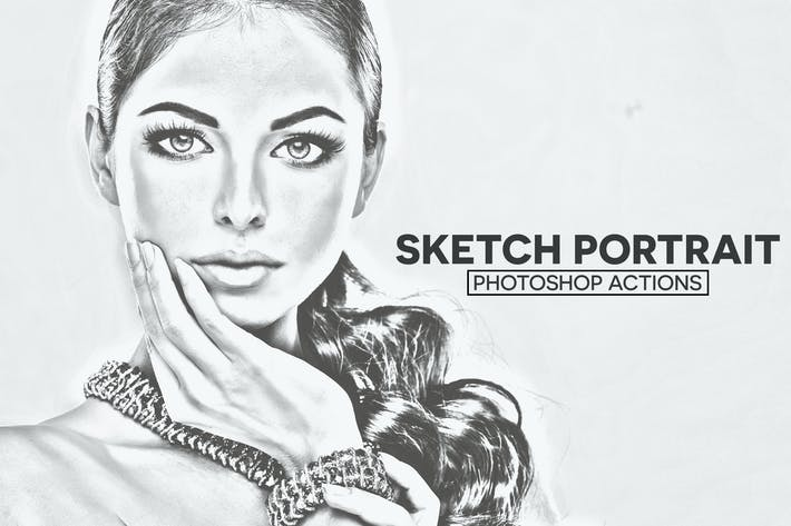 Thumbnail for Sketch Portrait Photoshop Actions
